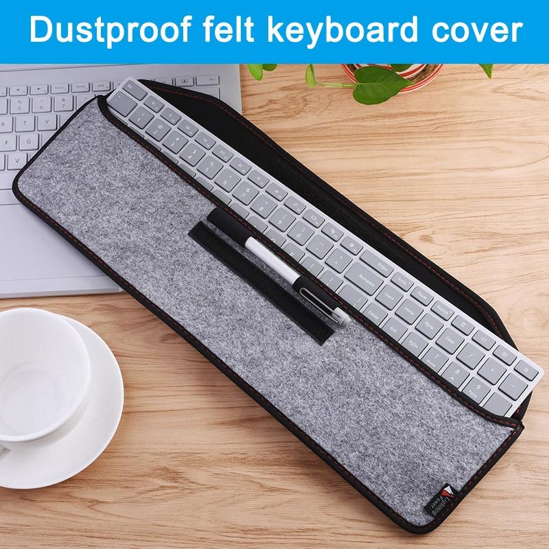 Waterproof Felt Mesh Protection Sleeve Case for Apple Magic Keyboard Microsoft Surface KB DQ-Drop