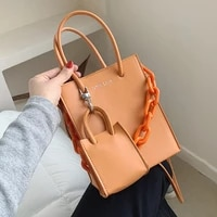 acrylic candy color chain designer mini pu leather crossbody bags for women 2021 winter branded trendy shoulder handbag totes