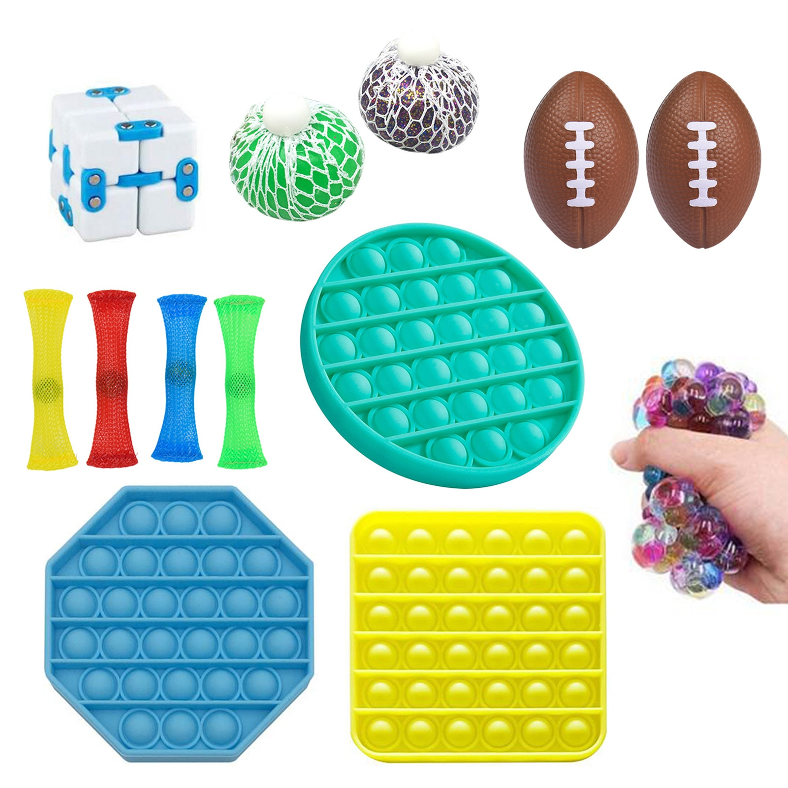 Sensory Fidget Toys Set Marble Ball EDC Hand Autism ADHD Anxiety Therapy Toys Pop Bubble Fidget Toy Adults Kids Antistress Toy enlarge