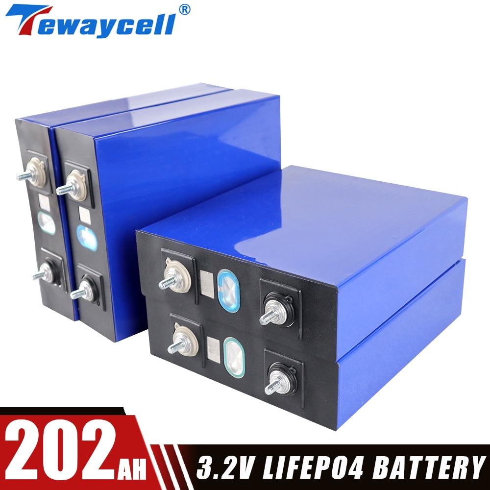 4 قطعة 200ah 202Ah Lifepo4 بطارية حزمة 3.2 فولت الصف أ ليثيوم الفوسفات المنشورية الخلايا الشمسية الجديدة عربة جولف لتقوم بها بنفسك خلية قابلة للشحن