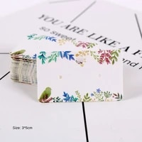 100pcs earring cards colorful jewelry display stand paper cards earrings holder jewelry packaging classic card 3x5cm