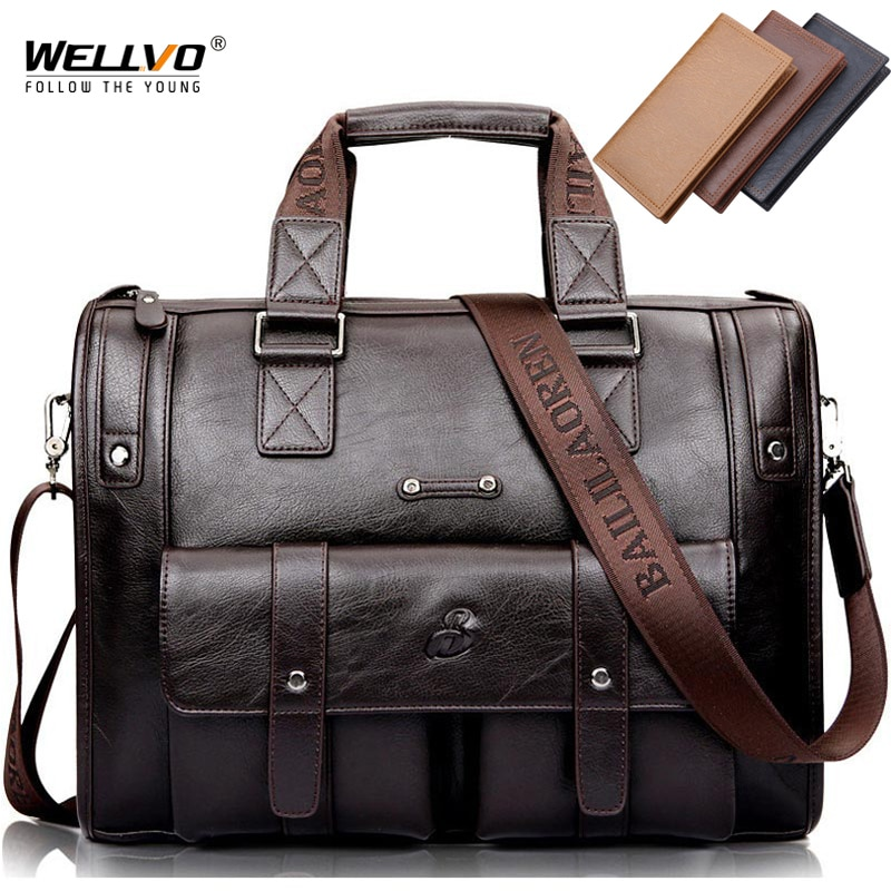 الرجال الجلود السوداء حقيبة الأعمال حقيبة يد حقيبة ساع الذكور خمر حقيبة كتف الرجال كبيرة محمول حقائب السفر الساخن XA177ZC