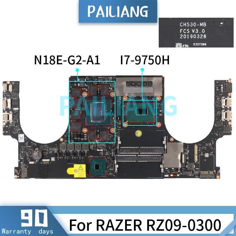 PAILIANG اللوحة الأم للكمبيوتر المحمول الماسح RZ09-0300 I7-9750H اللوحة الرئيسية CH530-MB DDR4 tesed N18E-G2-A1