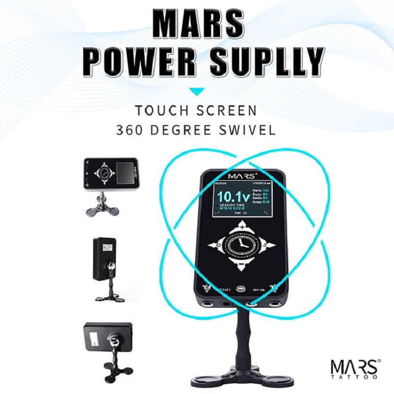 Pantalla táctil 3,4a, fuente de alimentación profesional de tatuaje MARS para máquina de tatuaje, equipo de maquillaje de tatuaje Digital LCD