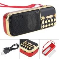 e57 portable radio mini audio card speaker fm radio with 3 5mm headphone jack built in speaker for home outdoor