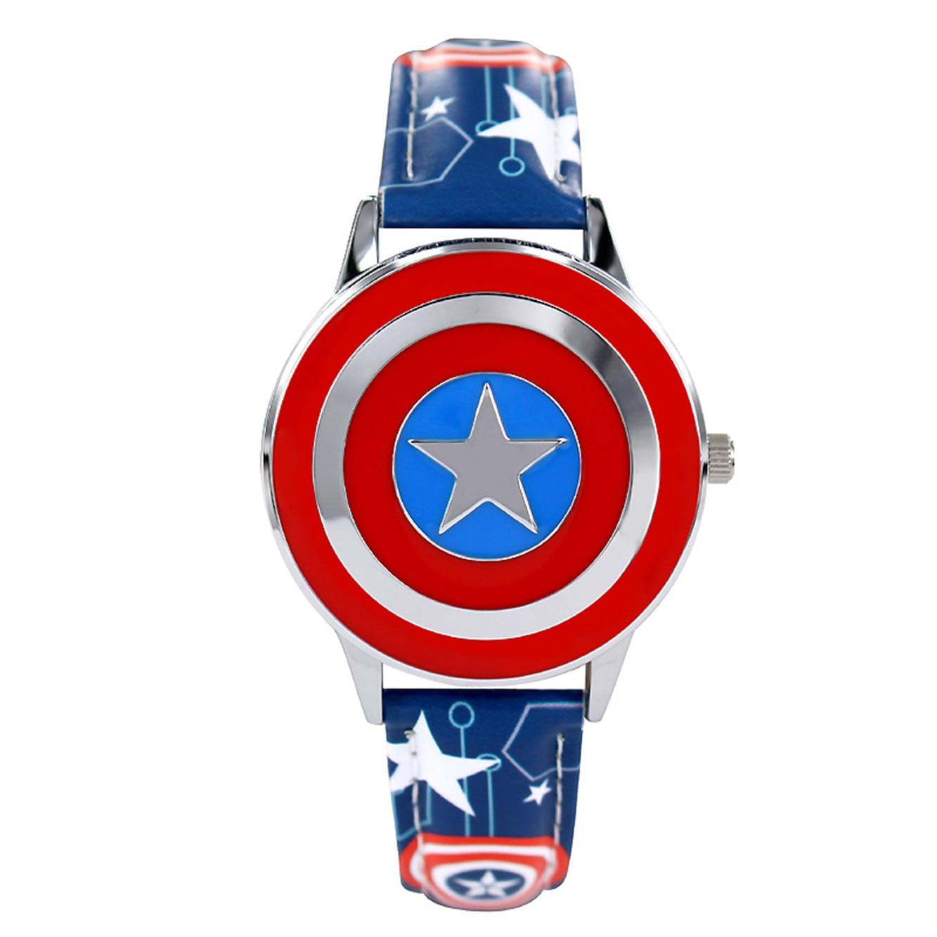 Relógios infantis de quartzo, relógios de quartzo para crianças, série marvel, design à prova d água, homem-aranha, capitão, presente de estudante