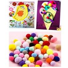 300Pcs Soft Round Fluffy PomPoms Ball 10/15/20/25mm Craft Felt Balls Mixed Color DIY Decoration Soft Pom Sewing Fabric Supplies