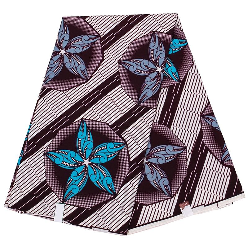 African wax fabric real wax 6yard/lot 2021 new fabric wax high quality African fabric print for sewing dress недорого