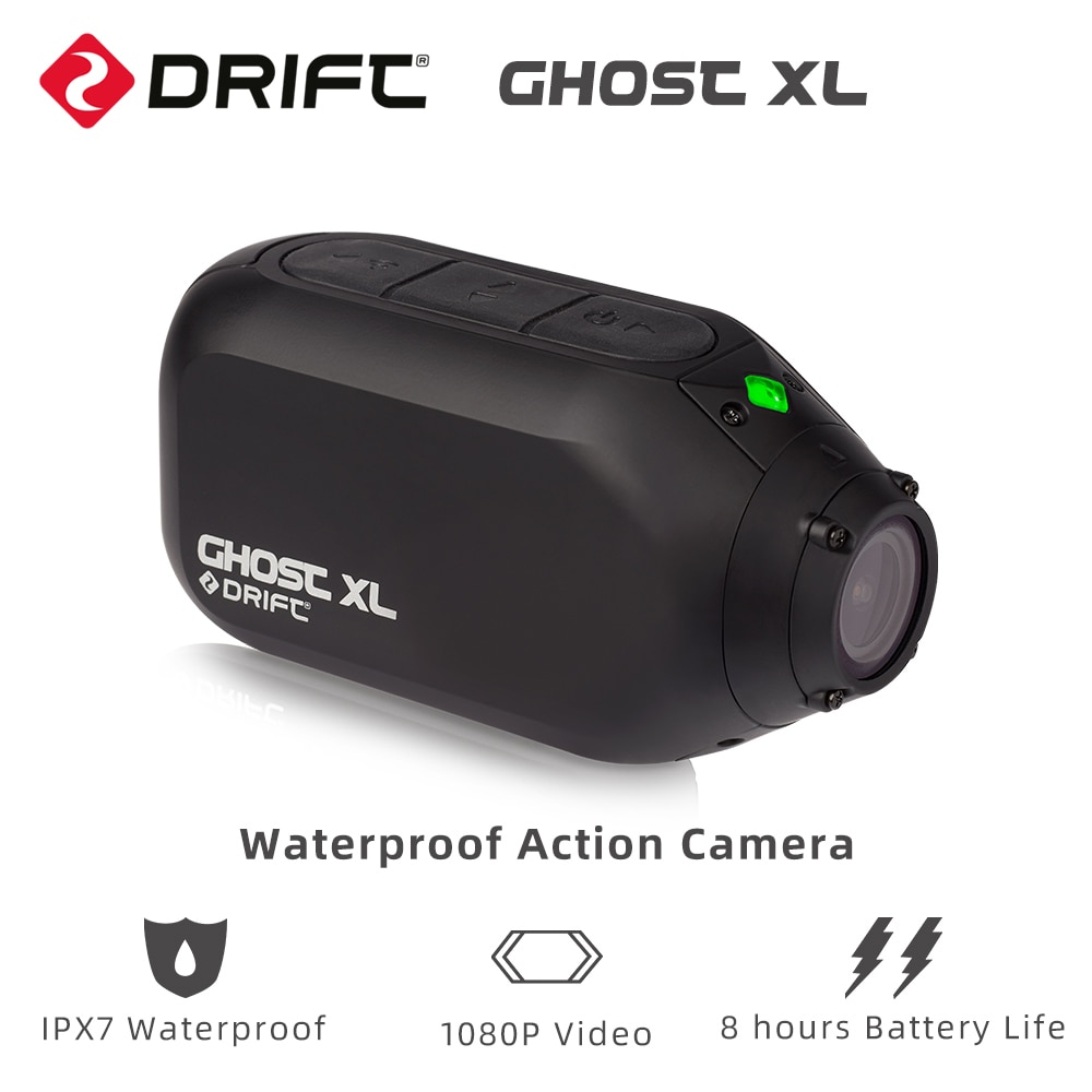 Drift Ghost XL Waterproof Action Camera with IPX7 Waterproof 1080P Video 8 Hours Battery Life