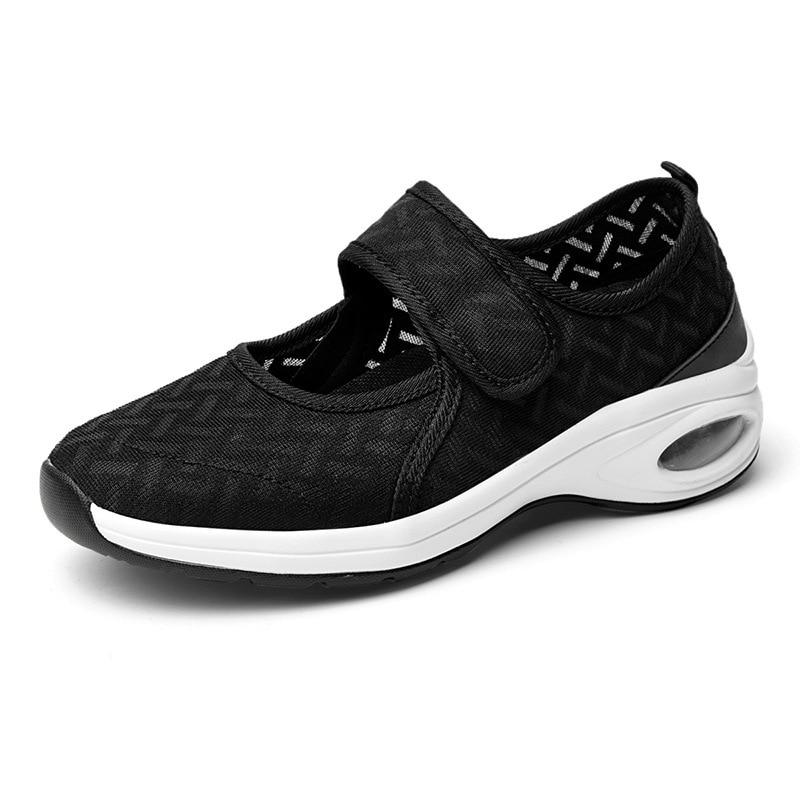 WX5 أحذية الصيف أحذية رياضية غير رسمية المرأة حذا فردي للسيدات حجم كبير ضوء شبكة أحذية الدانتيل شبكة الرمال الأحذية مربع الرقص الأحذية