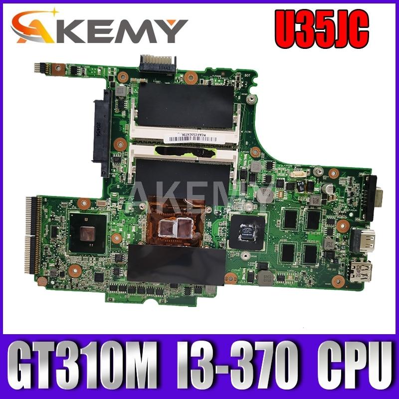 U35JC I3-380 وحدة المعالجة المركزية اللوحة الأم REV2.0 ل ASUS U35J U35JC اللوحة الأم للكمبيوتر المحمول 60-N3ZMB1300-A19 100% اختبار العمل