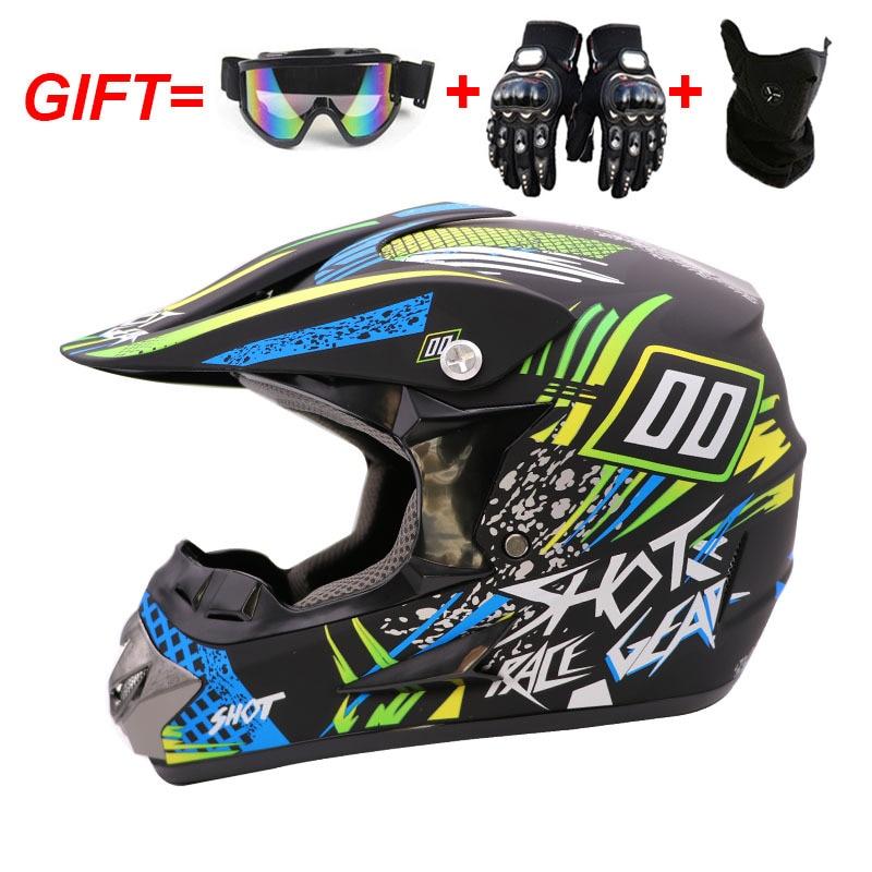 Casco Para Motocross MX, cascos para Moto Enduro todoterreno, Dirt Bike ATV...