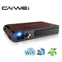 CAIWEI     Mini projecteur sans fil S6W  720P HD  Portable DLP 3D  Home cinema  iOS Miracast  partage decran via WiFi  3600 lumens