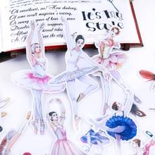 Pegatinas de chica de Ballet, calcomanías para álbum de recortes, calcomanías decorativas, álbumes de fotos artesanales, 19 Uds./14 Uds.