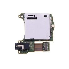 Game Card Socket Slot with Headset Earphone Socket Motherboard PCB Replacement Repair Part for Ninte