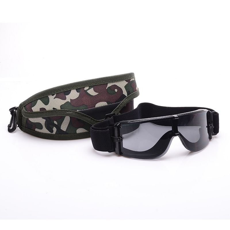 Airsoft óculos de sol tático 3 lente óculos do exército óculos tático preto tan verde para cs wargame airsoft paintball