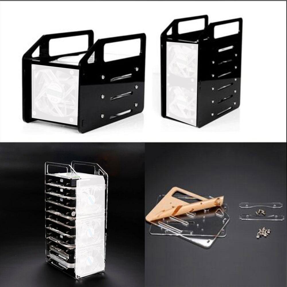 Disk Test Bench Case Bracket DIY Enclosure Set Tool Mobile Hard Drive 3.5inch HDD Hard Disk Cage Box Transparent
