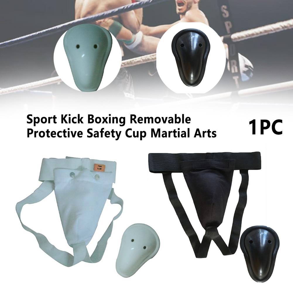 Elastic Professional Groin Protector Guard Martial Arts Kick Boxing Protective Safety Cup Cross Spor