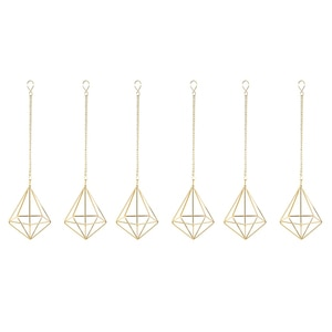 Promotion! 6 Pcs Nordic Style Hanging Tillandsia Air Plant Rack Wall Hanging Geometric Metal Tillandsia Air Plants Rack Holder
