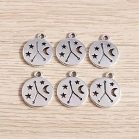 20pcs 1417mm retro silver color alloy moon star charms pendants for making necklaces earrings diy handmade jewelry findings
