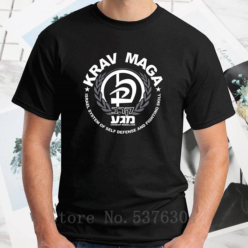 Camiseta T0643b Krav Maga, camiseta para hombre, recién llegados, informal, verano, negro, Asia, talla 2020, divertida camiseta 100% algodón