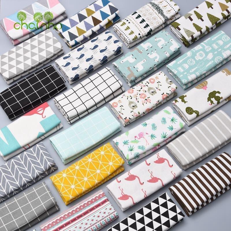 Tela de lino estampado de algodón para DIY, ropa, cubiertas de sofá, Textiles para el hogar, telas de costura de Patchwork, materiales Tissu