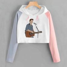 Shawn Mendes Crop Capuchon Sweater Vrouwen Harajuku Print Streetwear Hoodies Sweatshirts Grafische Truien Hoody Dames Meisje
