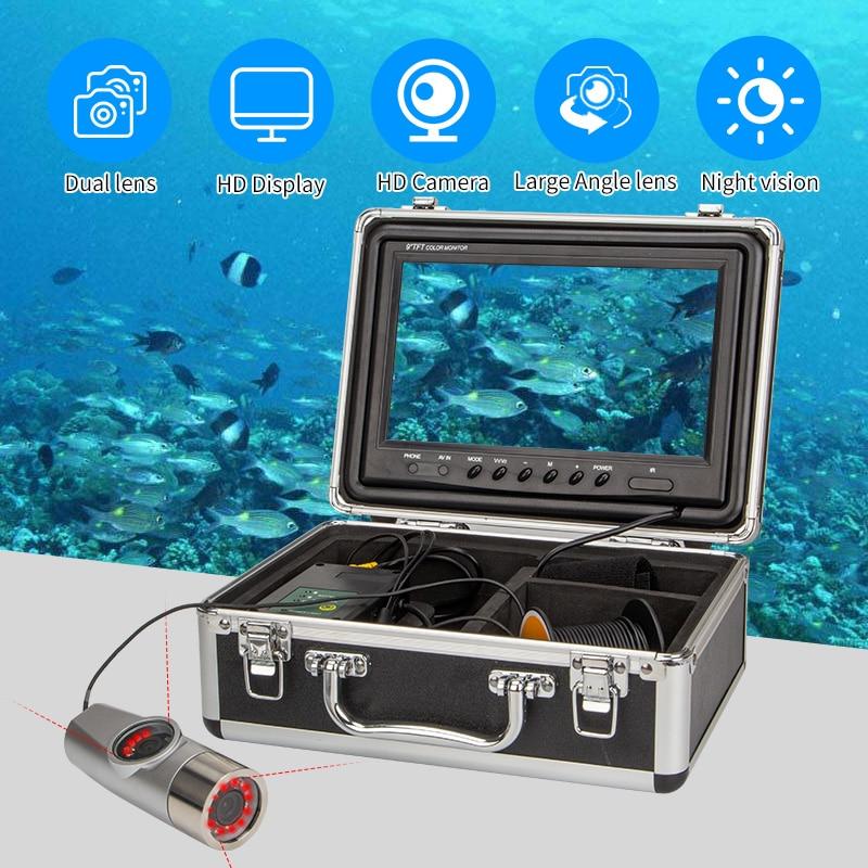 Syanspan Dual camera Underwater Fishing Camera Double Lamp Night Vision 9