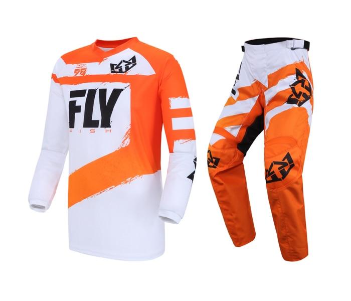 Комплект мужских брюк Fly Fish MX, трикотажные брюки, комплект для езды на мотоцикле, велосипеде-внедорожнике, кроссовом мотоцикле, эндуро, гоноч...