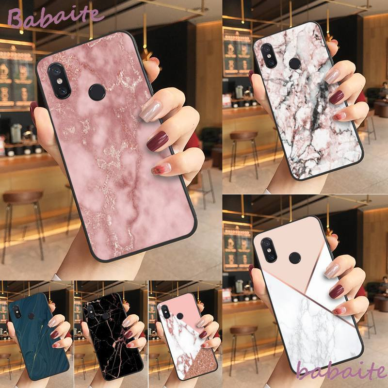 Babaite gold marble Line sparkle TPU Soft Silicone Phone Case Cover For Redmi note 8 8Pro 8T 6pro Re