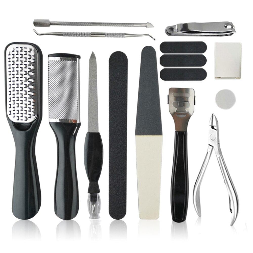 Set de manicura de pie 15/10 Uds eliminación de callos de piel muerta exfoliador de cutículas de pies pedicura de cuidado de pies Kit de herramientas máquina