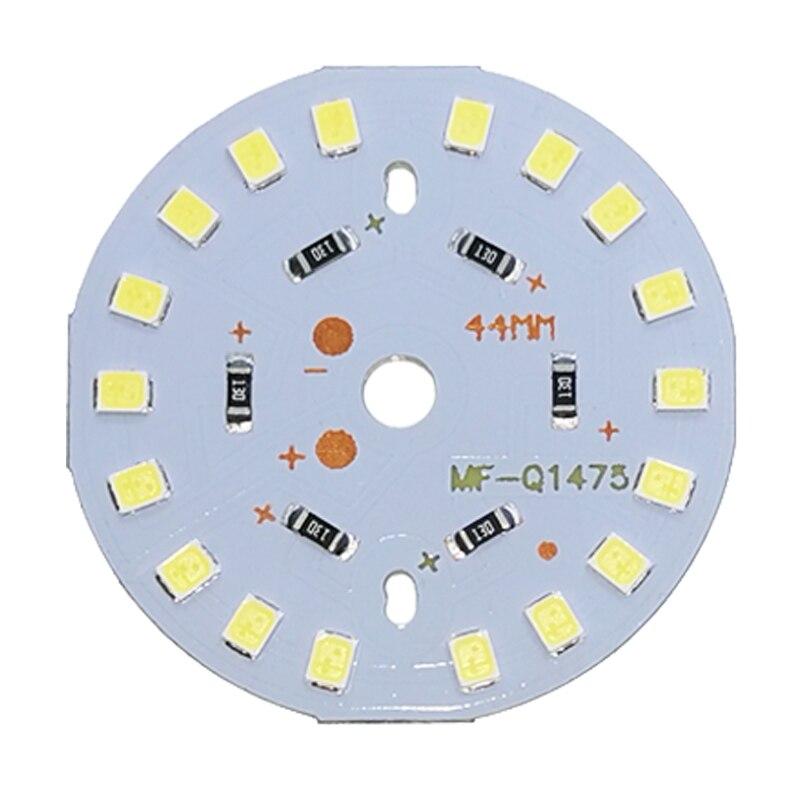 Lote de 5 uds de bombillas LED SMD de 2835 V CC, bombillas LED con Chip de lámpara de 3W, 6W, 9W, 12W, 15W y 18W