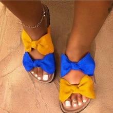 Summer Sandals Women Shoes Fashion Leopard Bow Ladies Slides Sewing Open toe Casual Female Shoes Woman Comfort Flip Flops 2020