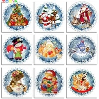 zooya christmas diamond embroidery 5d diamond painting full square new arrival mosaic santa claus rhinestones pictures a60041