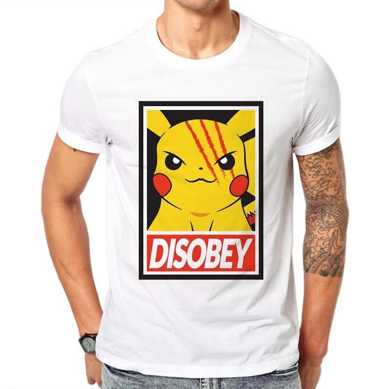 Camisetas de manga corta para hombre de LettBao Pokemon, camisetas de manga corta de verano para niños, camiseta blanca de dibujos animados para hombres, camiseta blanca de algodón con cuello redondo para hombre