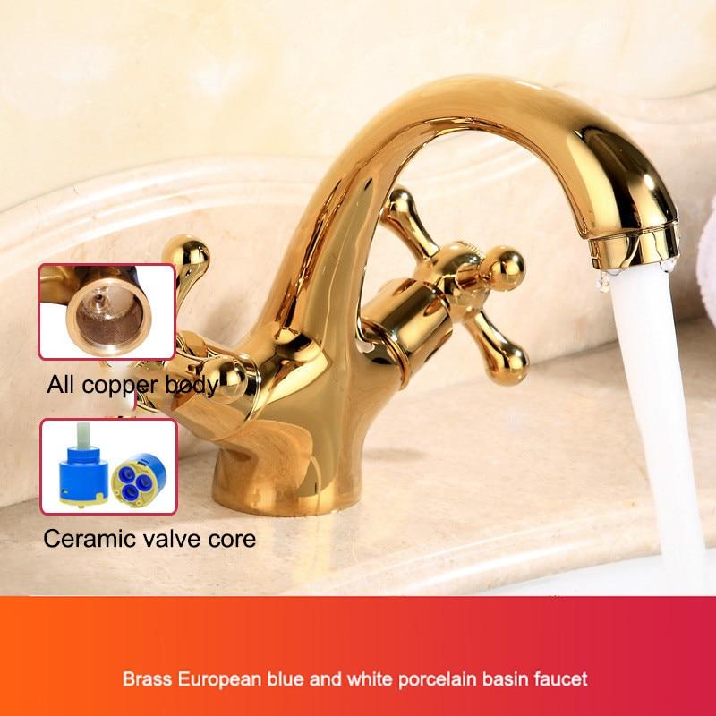 Золотистые краны с двойным переключателем для туалета, душевой комнаты, кухонные краны, вращающийся кран с одной ручкой, смеситель