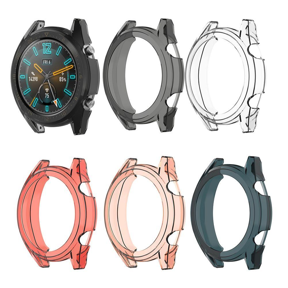 Soft Clear TPU Bumper Case Protective Cover Shell for 46mm Huawei GT Active Wearable Devices Smart Accessories