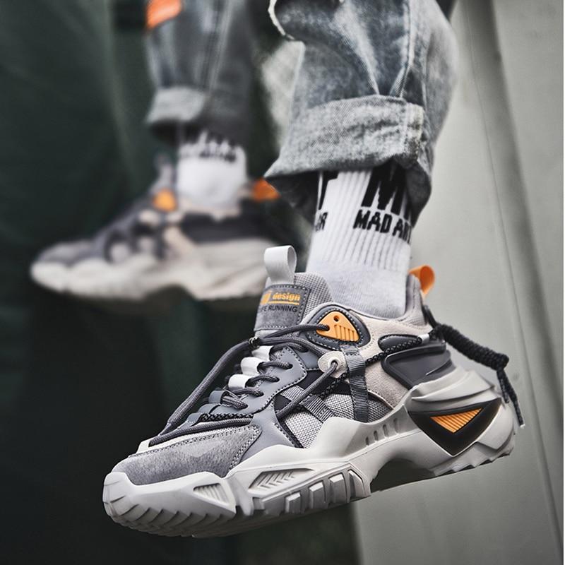 أحذية كاجوال عصرية للرجال ، أحذية رياضية سميكة بنعل سميك ، موسم الربيع ، 2021
