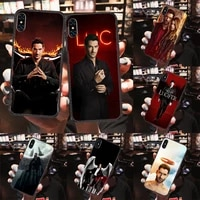 lucifer phone case cover hull for iphone 5 5s se 2 6 6s 7 8 12 mini plus x xs xr 11 pro max black 3d shell fashion cover tpu
