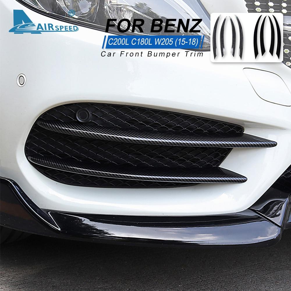 فاصل المصد الأمامي للسيارة ، ملحقات مرسيدس بنز C-Class W205 C180 C200 C220 C250 C300 C350 C400 C450 C160