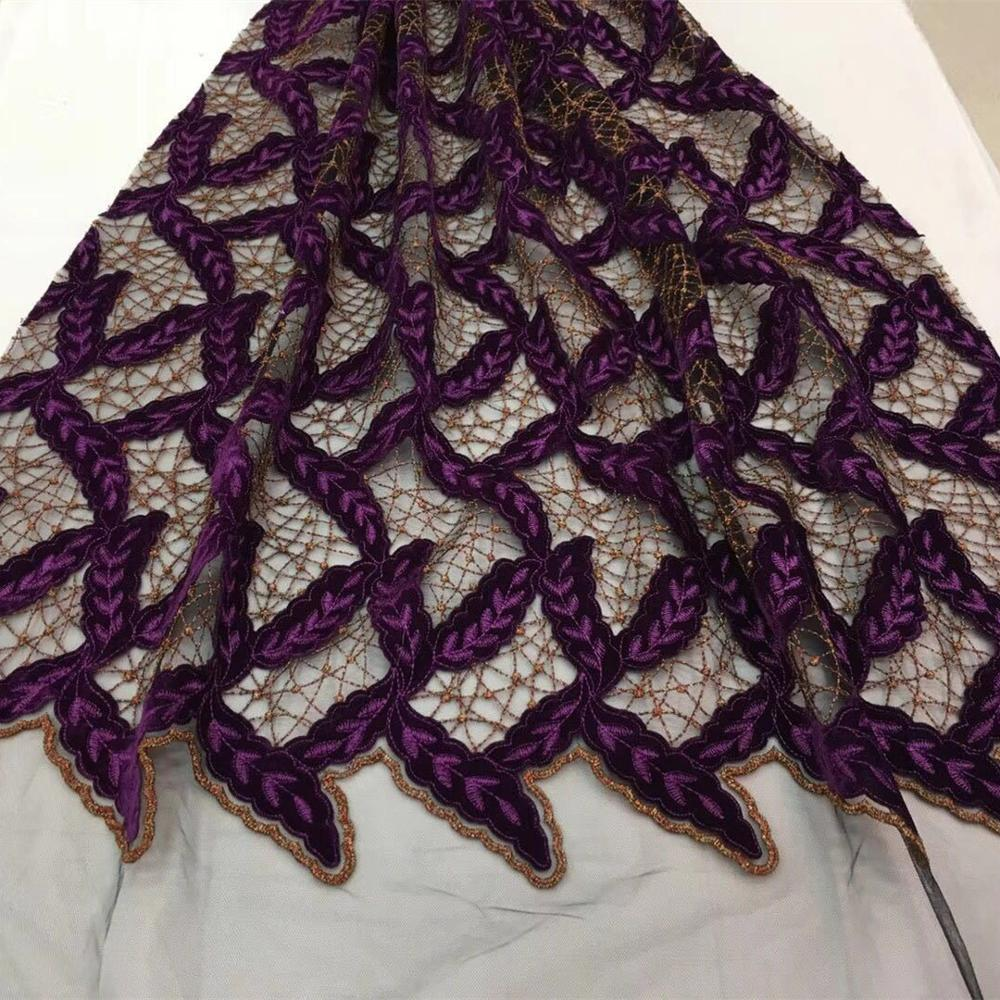 High Quality African DIY Floral Lace Fabric Nigerian Embroidered Laces French Swiss Voile For Wedding Party