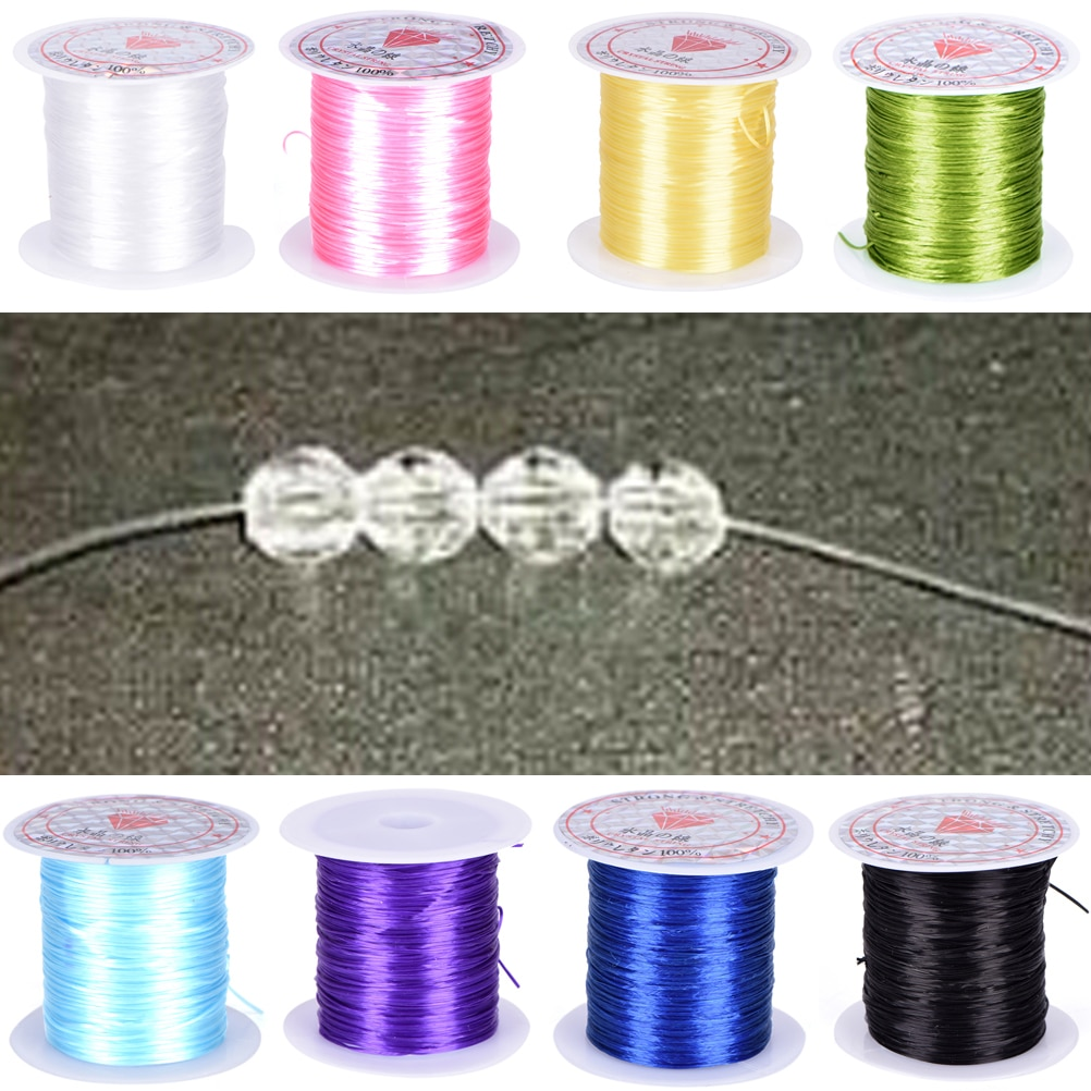 0.8mm DIY Crystal Beading Stretch Cord Elastic Line Transparent Clear Round Beading Wire/Cord/String/Thread Jewelry Making