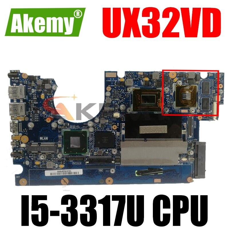 UX32VD MB._ 2G/I5-3317U/AS V1G GA 90R-NPOMB1300Y اللوحة الرئيسية لأجهزة الكمبيوتر المحمول ASUS UX32V UX32VD 100% اختبار الشحن المجاني