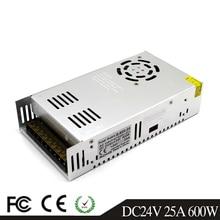 Przełączanie pojedynczego wyjścia zasilania 600W 24V 25A transformatory sterownika AC110V 220V do DC24V SMPS dla lampy Led CCTV 3D drukarki