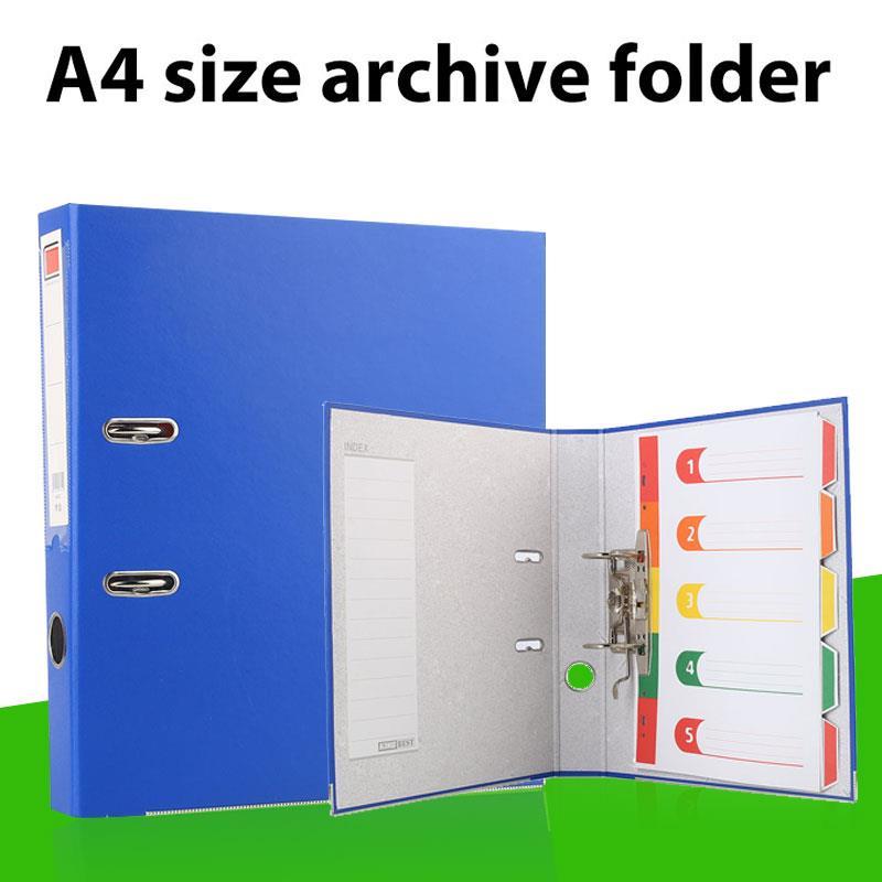 Niebieska dźwignia Arch A4 pliki foldery teczka na dokumenty papier biurowy uchwyt o dużej pojemności Binder Business Student A4 przechowywanie plików