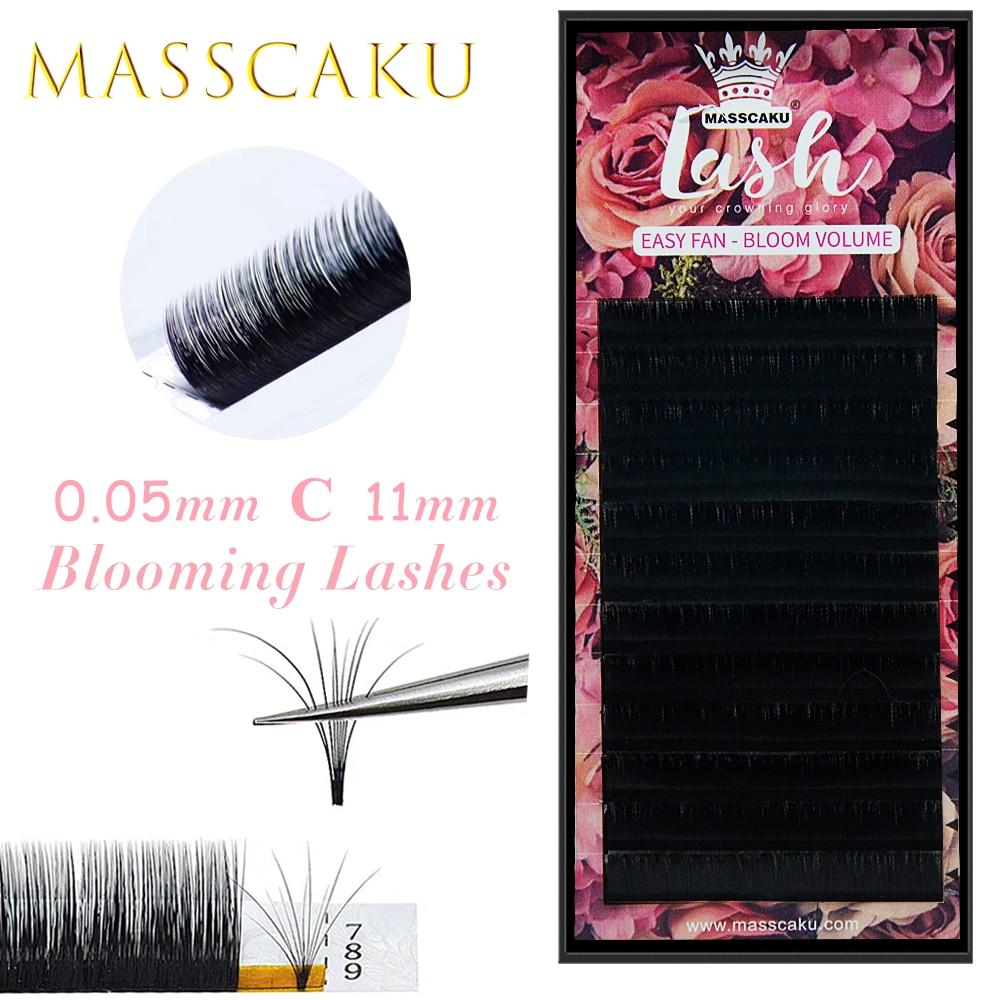 MASSCAKU-pestañas postizas de doble tono, pestañas postizas de fácil ventilación, mega volumen,...