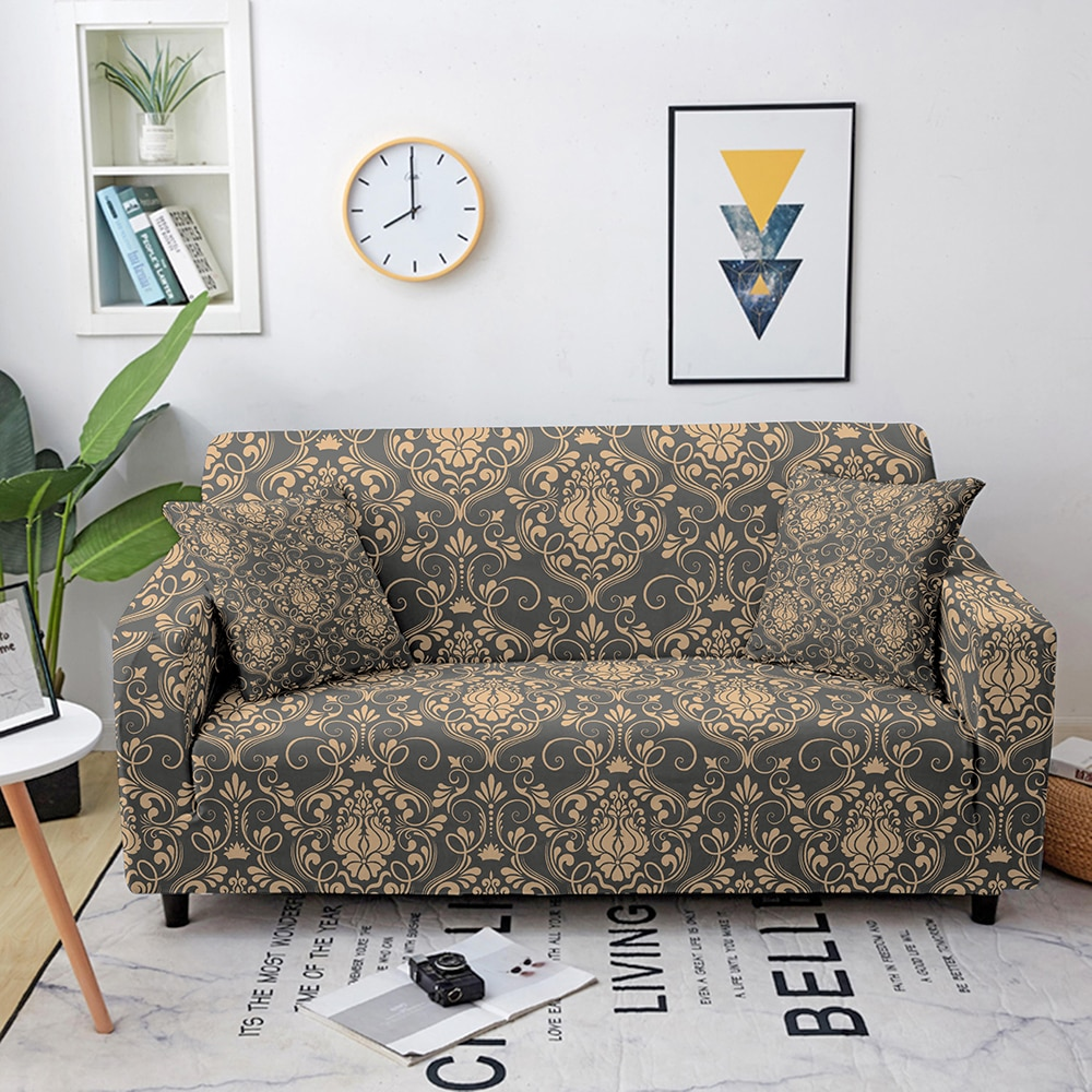 Фото - Mandala Elastic Sofa Covers for Living Room Universal All-inclusive Sectional Couch Cover Sofa Cover Couch Slipcover 1-4 seaters microsuede couch slipcover cream 270 x 350 cm