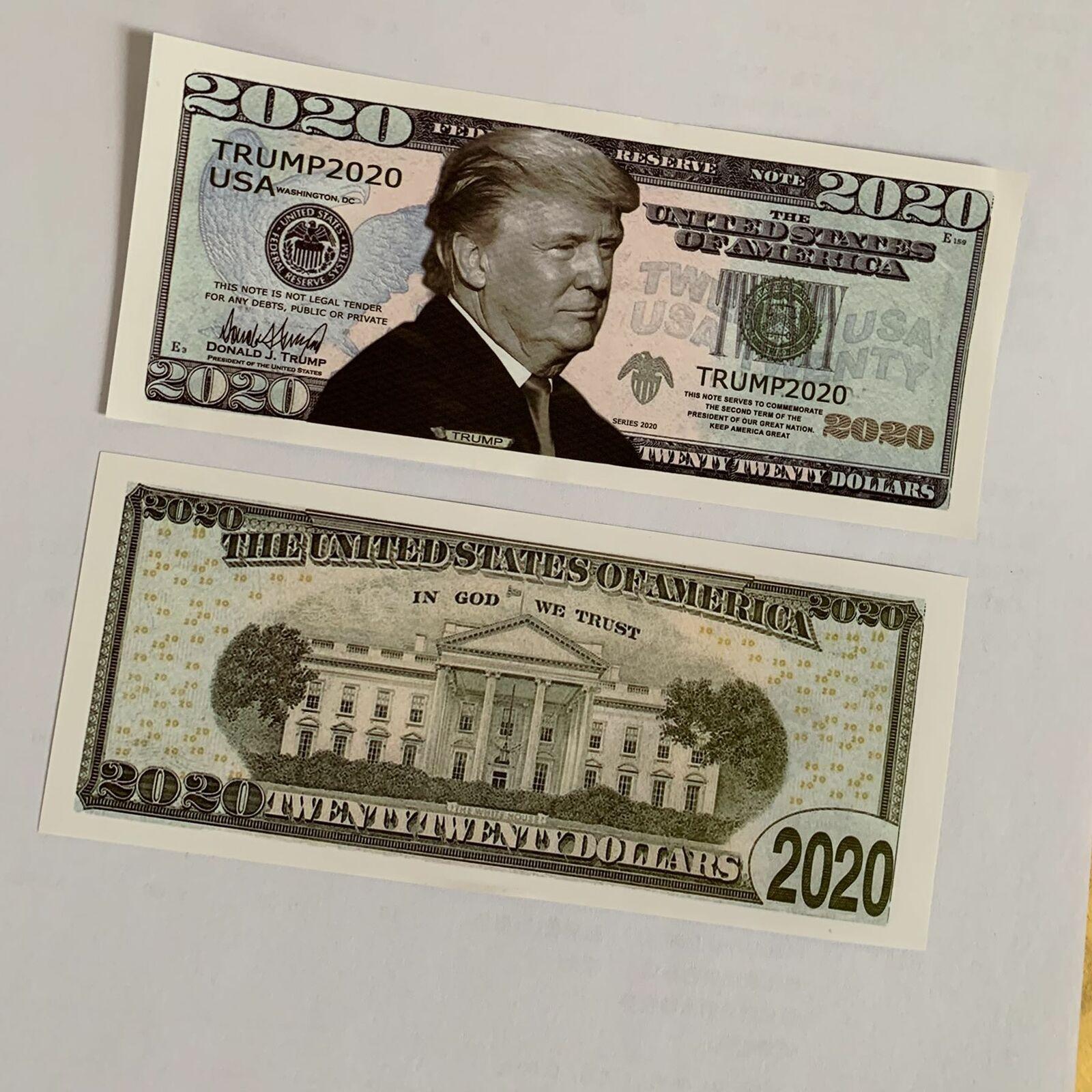 5 шт 2020 памятный значок Дональда Трампа монета президент бумажная банкнота без валюты