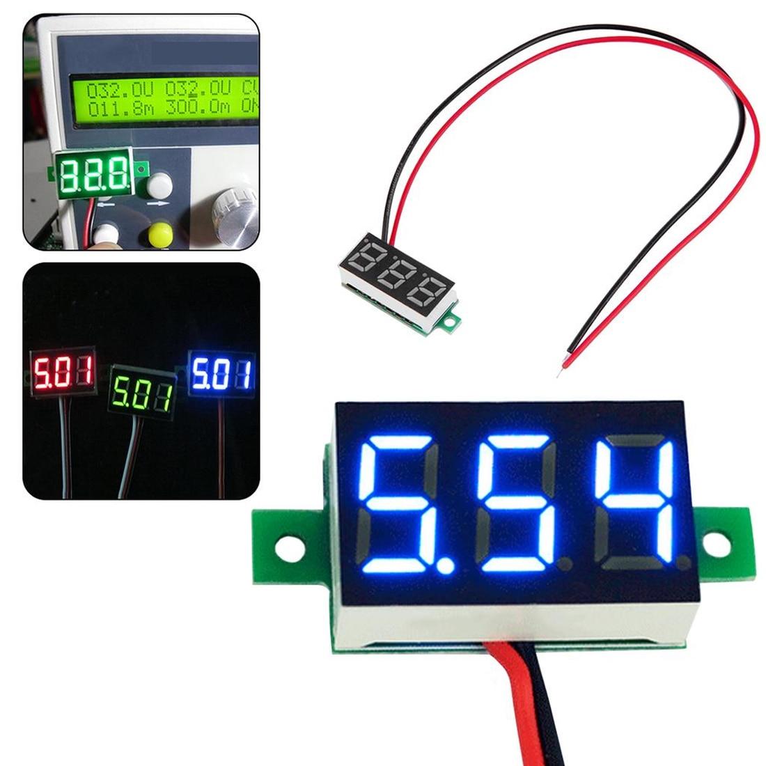 Tela led 0.28 Polegada 2.5v-30v mini digital voltímetro tensão tester medidor eletrônico peças acessórios voltímetro digital