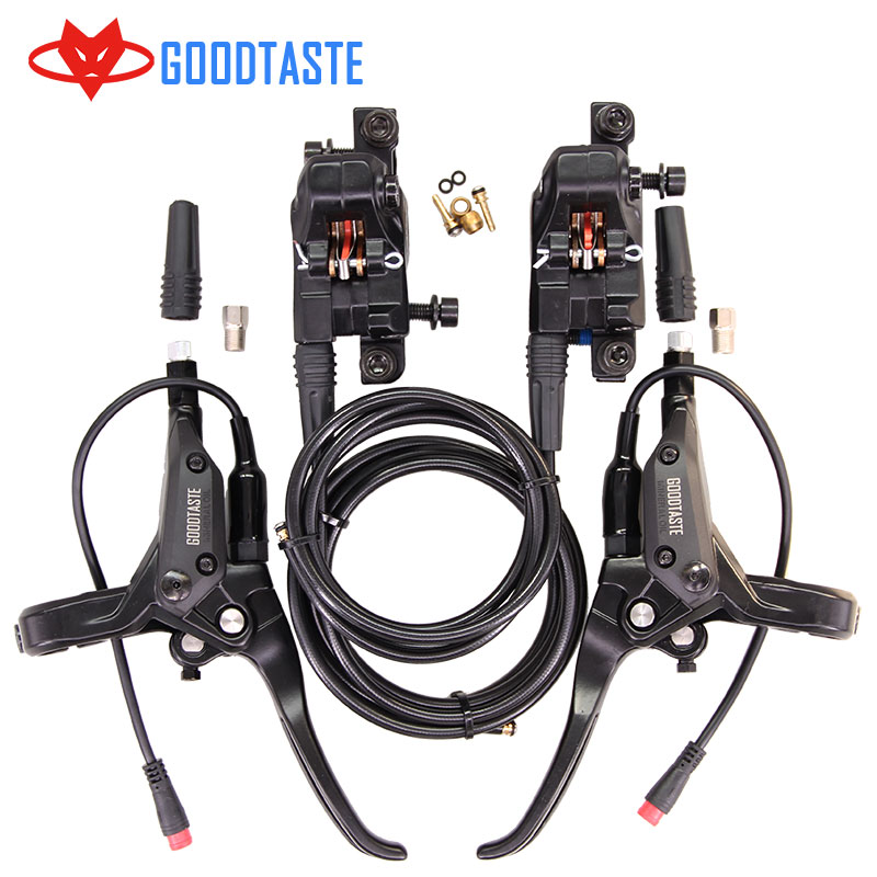 Freno eléctrico de litio para aceite y conducción de aceite, nuevo, plegable, de litio, para frenos de disco de bicicleta de montaña y patinete, pinza de freno de bicicleta